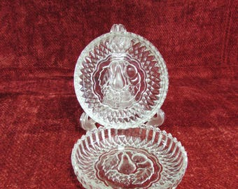 American Brilliant Nappy Bowls, Vintage Nappy Bowls, Jewelry Dish, Vintage ABP Glass