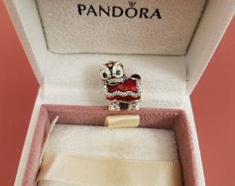 Authentic pandora Chinese lion dance charm 792043CZ sterling silver 925 ale new