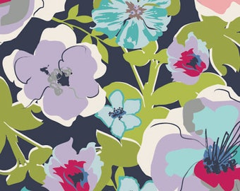 Art Gallery Fabrics, Voile, Pat Bravo, 100% Premium Cotton, Fashionable Azure.