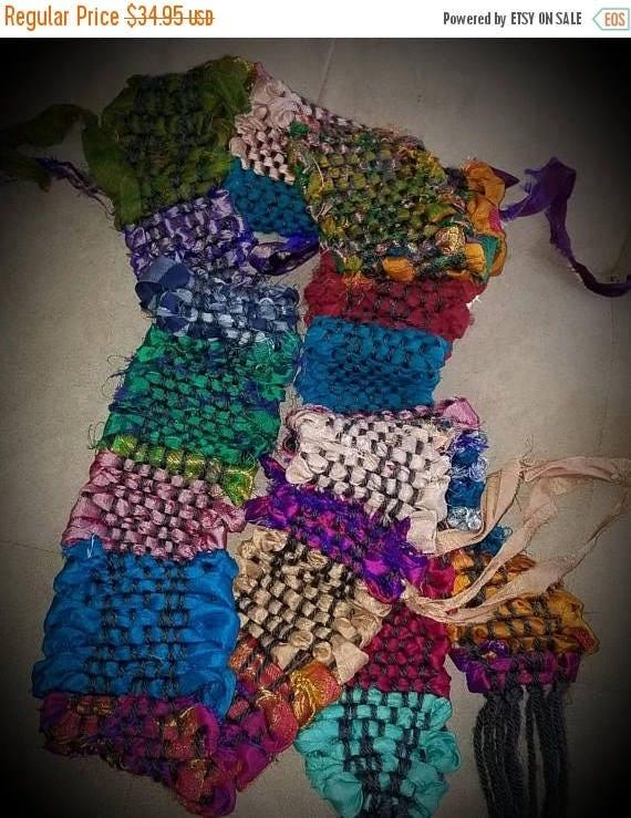 CYBER MONDAY Sari Inspired Sari Silk Scarf