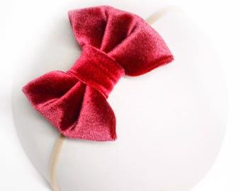 Ruby Velvet Bow