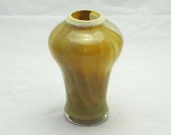 Brown Vase Handblown Glass