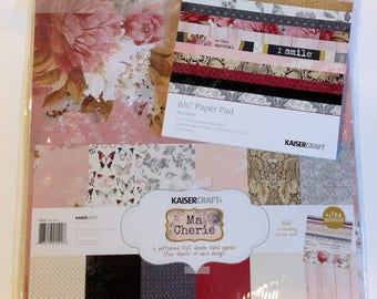 "KaiserCraft ""Ma Cherie"" 12"" x 12"" Paper Kit and 6.5"" x 6.5"" pad"