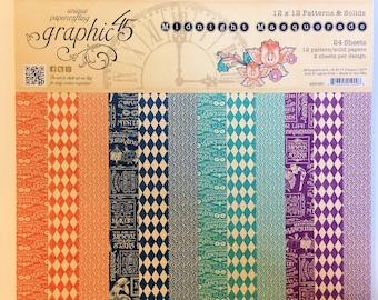 "Graphic 45 ""Midnight Masquerade"" 12"" x 12"" Patterns & Solids"