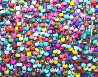 1 meter cord beaded seed beads 2mm multicolored