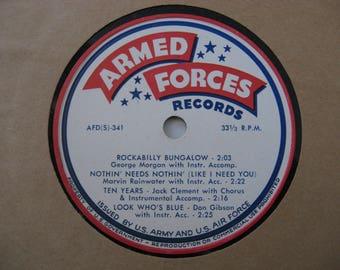 Rare! Armed Forces Records - Don Gibson & Various Artist - Circa 1970's