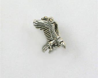 925 Sterling Silver Flying Vulture Charm