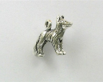 Sterling Silver 3-D Border Collie Dog Charm