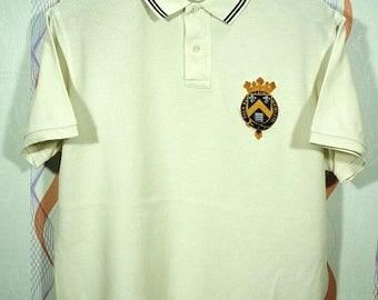 20% Sale Vintage 90s Polo ralph lauren Cookies MCMLXII shirt Size Large L stadium colorblock / ralph lauren rugby/ ralph lauren bear