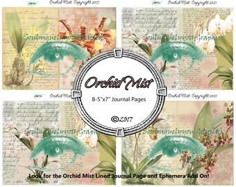 Orchid Mist  Digital Journal Pages DIGITAL DOWNLOAD ONLY!!!, Journal Kit, Glue Book, Flow Journal, Smash Book, Journal
