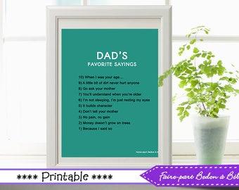 Father's day decor - Father's day - Father's day printable - wall art printable - wall art - 8x10