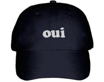 Oui Embroidered Hat