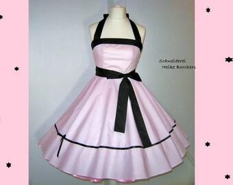 Wedding dress, wedding dress, Promdress, Rockabillykleid, petticoat dress, Weddingdress, pink, pink, black custom