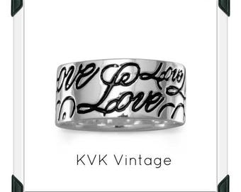 Love Band -  Sterling Silver Hand-stamped Ring