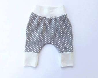Baby and toddler polka dot harem pants // harem pants // leggings // boy leggings // girl leggings