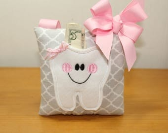 Tooth Fairy Pillow - Party Favor - Girls Tooth Pillow - Fairy Dust - Tooth Fairy Certificate - Tooth Pillow - Party Pack