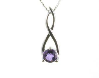 Amethyst Pendant, Sterling Silver Pendant,  Amethyst Necklace, Silver Jewelry, Purple Amethyst Jewelry, February Birthstone, UK Seller