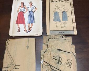 CUT Vintage Butterick 3034 Sewing Pattern Misses Straight Skirts Size A Ephemera Scrapbooking