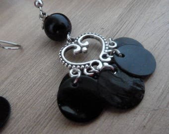 """so heart"" Stud Earrings black"
