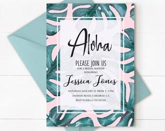 Hawaiian party, luau birthday, Hawaiian invitation, tropical wedding invitation, Hawaiian birthday, luau invitation, tropical invitation