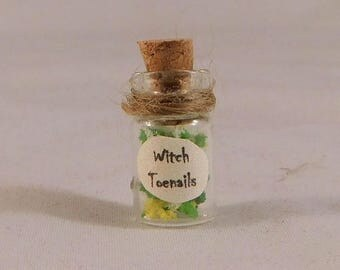 SALE WITCH TOENAILS Dollhouse Miniature Potion 1:12 Wizard Artist Made