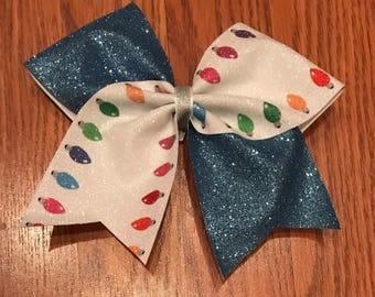 Christmas lights tic toc glitter bow