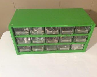 Vintage Industrial Storage Cabinet~Small Parts Organizer~Multi-Drawer Organizer