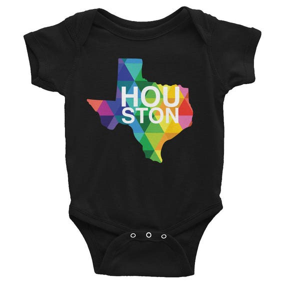 Houston Texas Baby - Infant Apparel - Colorful Texas State - Houston Texas Baby Clothing - Baby Shower Gift - Texas Gifts - Texas Onesie Boy