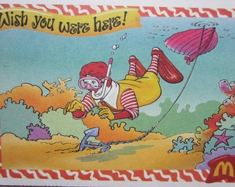 Eight Vintage McDonald Sunny Day Postcards 1996 McDonaldland Stickers Ronald McDonald