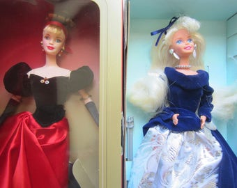 AVON Winter Splendor and Winter Velvet Barbies 1990s
