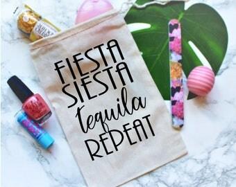 Fiesta Siesta Tequila Repeat Party Favor Bag, Bachelorette Party Favor Bag, Bachelorette Party Gift, Gift Bag, Bachelorette Favor