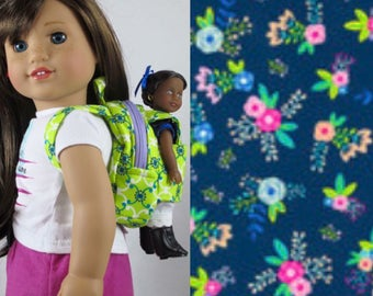 Mini Doll Backpack in Navy Floral