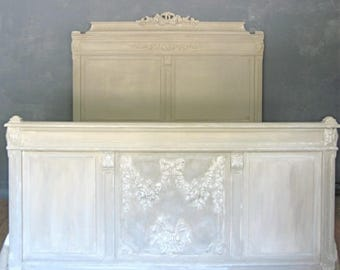 ON order Gustavian old antique bed Castle romantic country chic shabby