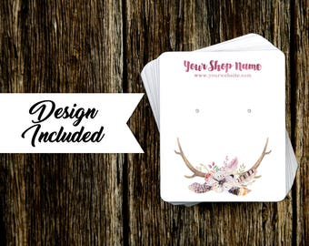 Jewelry Display Cards | Earring Cards | Necklace Cards | Floral Antler Bouquet