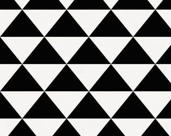 Onyx Triangle Stack Organic Fabric - By The Yard - Girl / Boy / Neutral