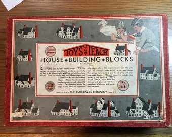 Toys That Teach - House … Building … Blocks - The Embossing Co - F.A.O. Schwarz