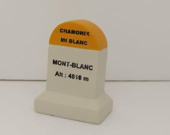Mont Blanc Km Marker Milestone Tour de France Mountains