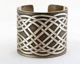 """2"""" Brothers in Arms etched cuff bracelet"""