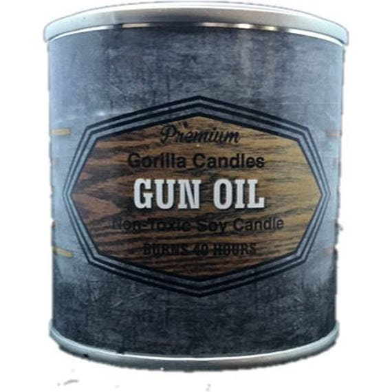 Gun OIl - Man Candle Bait Shop Collection Hunting Fishing Candle