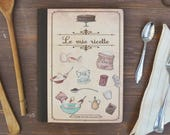 "Kraft Notebook  ""My recipes"" original design, recipes, notes, illustrated cover"