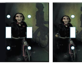 Saw Jigsaw light switch plate cover // scary Halloween switch plate // SAME DAY SHIPPING**