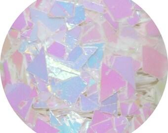 Princess Ice Cream Cake Body Glitter - Pearlascent Chunky Body Glitter - Mylar Large Shreds Hair Glitter - Pearlascent Chunky Body Glitter