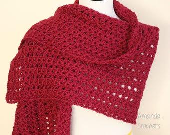 Crochet Shawl Pattern-Instant Download-Crochet Wrap Pattern-Shawls & Wraps-Accessories-Crochet Pattern-Pattern by Amanda Crochets