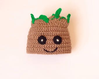 Groot Costume Hat , Groot Beanie- From Guardians of the Galaxy - Halloween / Cosplay / Baby Shower