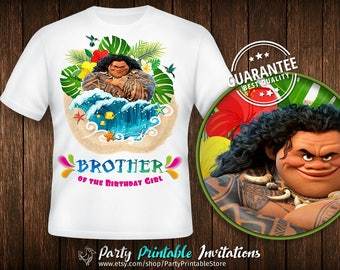 Moana Brother Shirt, Birthday Girl Brother, Moana Dad Shirt, Moana Birthday Shirt Iron On, Moana Birthday Shirt Family, Moana Birthday Shirt