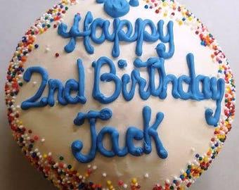 "Dog Cake, 4"" Jumbo Cupcake with Confetti (Serves up to 4)"