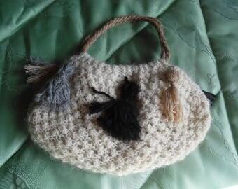 "Colorfull Small handbag of ethnic fabric ""aguayo"" indigenous of Bolivia, vintage, boho, hippie"