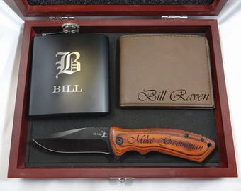Groomsmen Gift Set, Groomsmen Gift, Man Gift, Personalized Knife, Groomsman Gift Box, Personalized Knives Set, Engraved Gift, Best man Gift