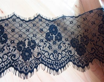 Wedding lace,eyelash Lace Trim ,Floral Wave Soft Lace fabric 3meters in 1pcs