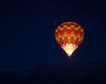 Hot Air Balloon Mounted Wall Art -- Home/Office Decor